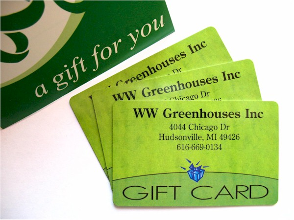 W.W. Greenhouses, Inc. :: Gift Cards!